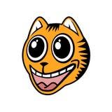Funny cat draw Royalty Free Stock Photo