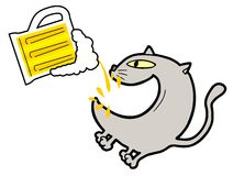 Funny cat drink Royalty Free Stock Photography