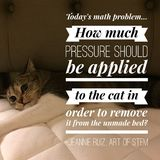 Funny cat humor quote lazy cat. Striped tabby cat cannot be moved from comfortable bed with silly quote Stock Photo