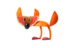 Funny cat made of orange Royalty Free Stock Photography