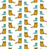 Funny cat pattern vector illustration