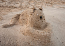 Funny cat from sand Royalty Free Stock Images