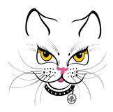 Funny Cat T-shirt Print stock illustration