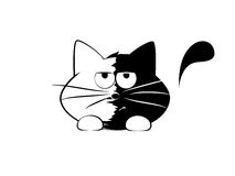 Funny cat, tired. Vector illustration, funny cat, tired Stock Photography