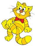 Funny cat (vector clip-art) Stock Photo