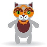 Funny cat on a white background.  Stock Photography