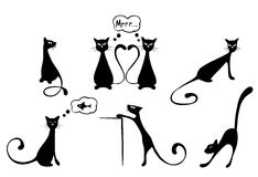 Funny cats royalty free illustration