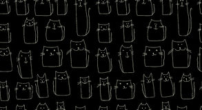 Funny cats family, seamless pattern for your design Stock Photo