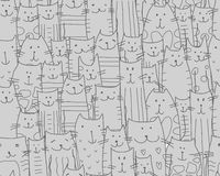 Funny cats family, seamless pattern for your design Royalty Free Stock Images