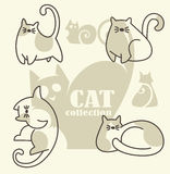 Funny cats. My favorite pets, vector collection Stock Photos