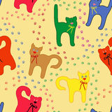 Funny cats over traces background Stock Photos