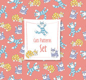 Funny Cats Pattern stock images