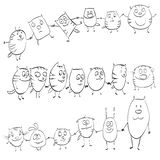 Funny cats pictures characters. Set Stock Image