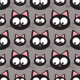Funny cats seamless pattern. Funny cats seamless  pattern Stock Image