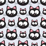 Funny cats seamless pattern. Funny cats seamless  pattern Stock Photography