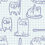 Funny cats seamless pattern Royalty Free Stock Image