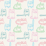 Funny cats seamless pattern Stock Images