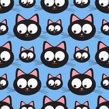 Funny cats seamless pattern. Funny cats seamless vector pattern Stock Photo