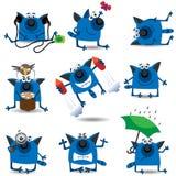 Funny Cats Set Stock Photos