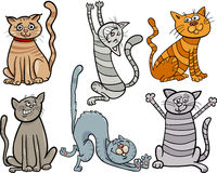 Funny cats set cartoon illustration Stock Photography