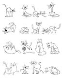 Funny cats set. Vector illustration of a funny cats set royalty free illustration