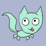 Funny cats. Suitable for childrens stories and fairy tales. Illustration Stock Images