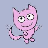 Funny cats. Suitable for childrens stories and fairy tales. Illustration Stock Photography