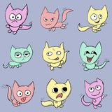 Funny cats. Suitable for childrens stories and fairy tales. Illustration Royalty Free Stock Images