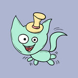 Funny cats. Suitable for childrens stories and fairy tales. Vector Stock Photos
