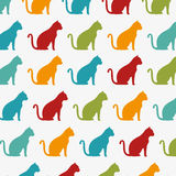 Funny cats wallpaper color design graphic Stock Image