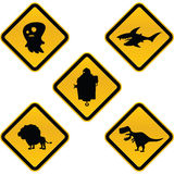 Funny Caution Signs Royalty Free Stock Images
