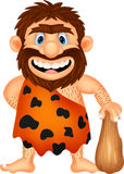 Funny caveman cartoon Royalty Free Stock Images