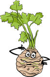 Funny celery vegetable cartoon illustration Royalty Free Stock Photos