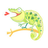 Funny chameleon Royalty Free Stock Images