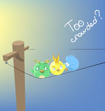 Funny character bird Stock Images