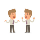 Funny Character Broker tells interesting story to his friend. Poses for interaction with other characters from this series Stock Images