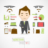 Funny character businessman Stock Photography