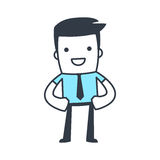 Funny Character Businessman Line art style Royalty Free Stock Photography