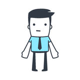 Funny Character Businessman Line art style Royalty Free Stock Images