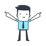 Funny Character Businessman Line art style Stock Image