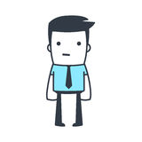 Funny Character Businessman Line art style Royalty Free Stock Image