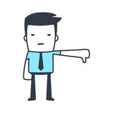 Funny Character Businessman Line art style Stock Images