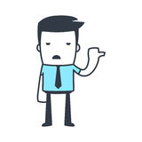 Funny Character Businessman Line art style Royalty Free Stock Photo