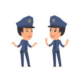 Funny Character Constabulary tells interesting story to his frie Royalty Free Stock Images