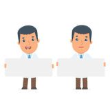 Funny Character Doctor holds and interacts with blank forms or o Stock Images