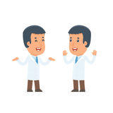 Funny Character Doctor tells interesting story to his friend Royalty Free Stock Image