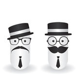 Funny character hipster and gentleman Royalty Free Stock Photos