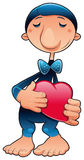 Funny character in love Stock Photography