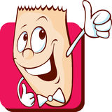 Funny character show thumb up - vector Stock Image