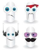 Funny characters faces illustration Stock Photography